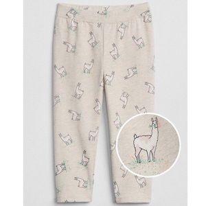 Baby Gap Toddler Cream Llama Leggings